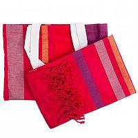 TipTrade Peshtemal plážová osuška Sunny Stripes vícebarevná 90x158