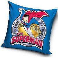 TipTrade Polštářek Superman blue, 40 x 40 cm