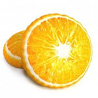 TipTrade Tvarovaný 3D polštářek Pomeranč, 40 cm