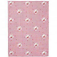 Trade Concept Kuchyňská utěrka Elegant kostka červená, 50 x 70 cm, sada 2 ks