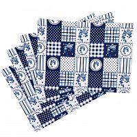 Trade Concept Prostírání Country patchwork modrá, 33 x 45 cm, sada 4 ks