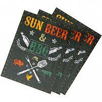 Trade Concept Utěrka Sun, beer & BBQ, 50 x 70 cm