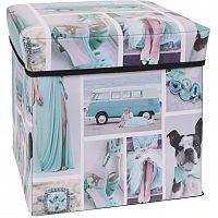 Úložný box Siena modrá, 30 x 30 x 30 cm
