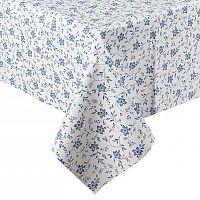 VOG Ubrus vinylový Květ modrá 140x160 cm