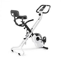 Capital Sports Azura X1 X-Bike, kolo, do 120 kg, měřič tepu, sklápěcí, 4 kg, bílý