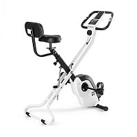 Capital Sports Azura X2 X-Bike, kolo, do 120 kg, měřič tepu, sklápěcí, 4 kg, bílý
