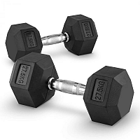 Capital Sports Hexbell 27,5 Dumbbell, pár jednoručních činek, 27,5 kg