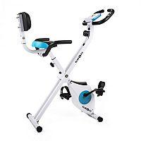 KLARFIT Azura Pro, domácí cyklotrenažér, opěrka zad, boční držadla, sklápěcí, 100 kg