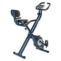KLARFIT Azura Pro X-Bike, kolo na domácí trénink, do 100 kg, měřič tepu, sklápěcí, 3 kg, modrý