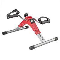 KLARFIT Continus Pro Mini Bike, pedálový přístroj na cvičení, displej, sklápěcí, červená barva