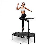 """KLARFIT Jumpanatic Pro, Fitness trampolína, 50""""/127 cm, tyč s rukojetí, černá"""