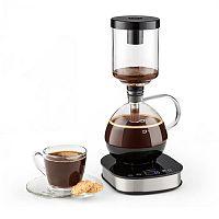 Klarstein Coffee Maker, 360 ° základna, LCD displej, 500 W, funkce udržení tepla, sklo