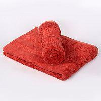 Bambusový ručník Bella - cihlový 50x90 cm, 440 g/m2 Ručník