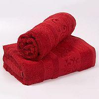 Bambusový ručník Verde - červený 50x90 cm, 440 g/m2 Ručník