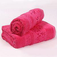 Bambusový ručník Verde - růžový 50x90 cm, 440 g/m2 Ručník