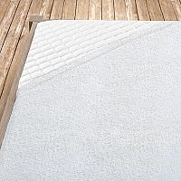 Bílé bambusové prostěradlo 160x200 cm dvojlůžko Bambus - froté