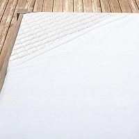 Flanelové prostěradlo bílé 140x200 cm jednolůžko Flanel