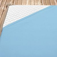 Flanelové prostěradlo světle modré 180x200 cm dvojlůžko - standard Flanel