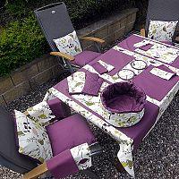 Grilovací set s teflonovou úpravou 1x zástěra 65x70 cm, 2x rukavice 18x32 cm, 2x chňapka 20x20 cm bavlna