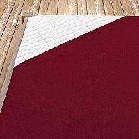 Napínací froté prostěradlo bordó Dvojlůžko - standard, 180x200 cm froté