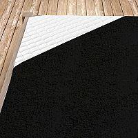 Napínací froté prostěradlo černé Dvojlůžko - standard, 180x200 cm Froté