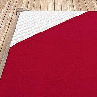 Napínací froté prostěradlo červené Jednolůžko - standard, 100x200 cm Froté
