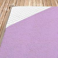 Napínací froté prostěradlo světle fialové Jednolůžko, 140x200 cm Froté