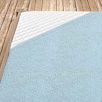 Napínací froté prostěradlo světle modré dětská postýlka, 60x120 cm Froté