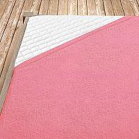 Napínací froté prostěradlo světle růžové Jednolůžko - standard, 100x200 cm Froté