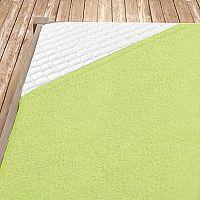 Napínací froté prostěradlo světle zelená Jednolůžko - standard, 100x200 cm Froté