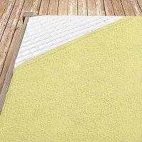 Napínací froté prostěradlo světle žluté 100x200 cm jednolůžko - standard Froté