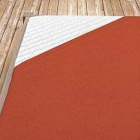 Napínací froté prostěradlo terrakotové 100x200 cm jednolůžko - standard Froté