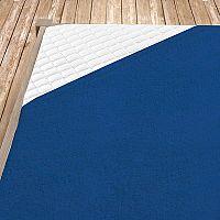 Napínací froté prostěradlo tmavě modré 160x200 cm dvojlůžko Froté