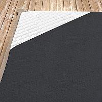 Napínací froté prostěradlo tmavě šedé 100x200 cm jednolůžko - standard Froté