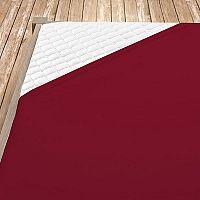 Napínací jersey prostěradlo bordó 160x200 cm dvojlůžko Jersey