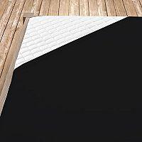 Napínací jersey prostěradlo černé 100x200 cm jednolůžko - standard Jersey