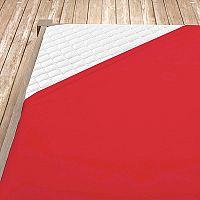 Napínací jersey prostěradlo červené 160x200 cm dvojlůžko Jersey