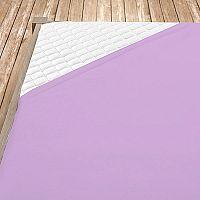 Napínací jersey prostěradlo fialové 140x200 cm jednolůžko Jersey