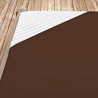 Napínací jersey prostěradlo hnědé 160x200 cm dvojlůžko Jersey