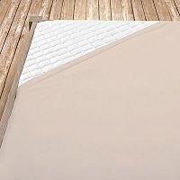 Napínací jersey prostěradlo kapučínové 180x200 cm dvojlůžko - standard Jersey