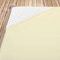 Napínací jersey prostěradlo krémové 180x200 cm dvojlůžko - standard Jersey