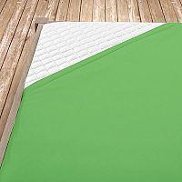 Napínací jersey prostěradlo olivové 140x200 cm jednolůžko Jersey