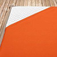 Napínací jersey prostěradlo oranžové 180x200 cm dvojlůžko - standard Jersey