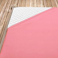 Napínací jersey prostěradlo růžové 100x200 cm jednolůžko - standard Jersey