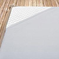 Napínací jersey prostěradlo šedé 140x200 cm jednolůžko Jersey
