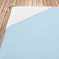Napínací jersey prostěradlo světle modré 60x120 cm dětská postýlka Jersey
