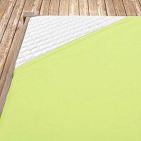 Napínací jersey prostěradlo světle zelené 140x200 cm jednolůžko Jersey