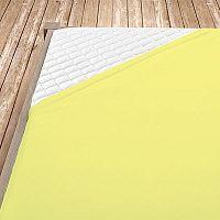 Napínací jersey prostěradlo světle žluté 160x200 cm dvojlůžko Jersey