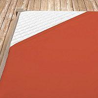 Napínací jersey prostěradlo terrakotové 180x200 cm dvojlůžko - standard Jersey