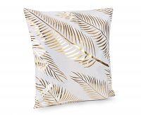 Povlak na polštářek Gold Listy 45x45 cm polyester